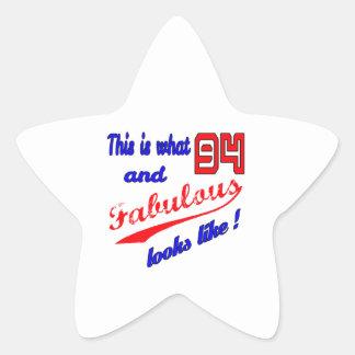Fabulous 94 looks like ! star sticker