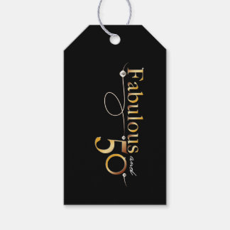 Fabulous and 50 celebration design gift tags