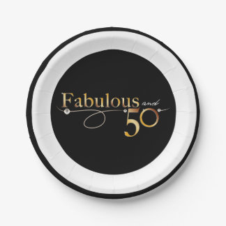Fabulous and 50 celebration design paper plate