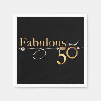 Fabulous and 50 celebration design paper serviettes