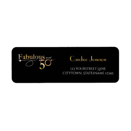Fabulous and 50 | Return address label