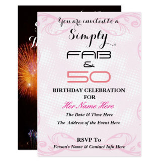 Fabulous and 50 - Simply FAB & 50 - Card