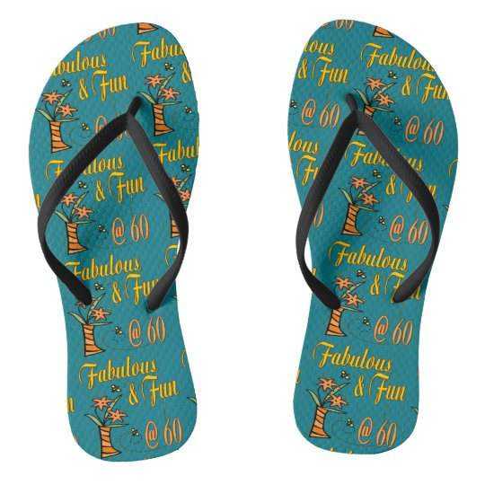 Fabulous and Fun 60th Flip Flops