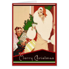 Fabulous Art Deco Merry Christmas Glamourous Card