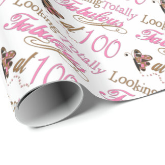 Fabulous at 100 Years Old Wrapping Paper