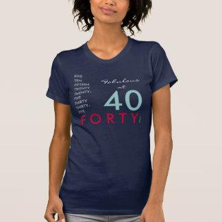 Fabulous At 40 Dark  T-Shirt