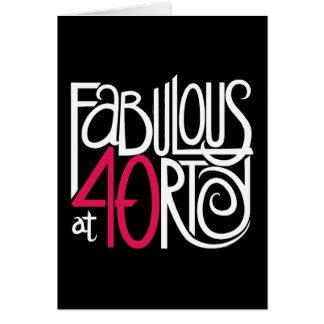 Fabulous at 40rty Dark Card