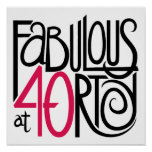 Fabulous at 40rty Poster