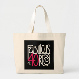 Fabulous at 40rty white Bag