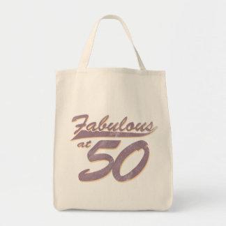 Fabulous at 50 Birthday Tote Bag