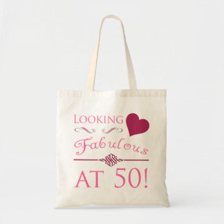 Fabulous At 50 Budget Tote Bag