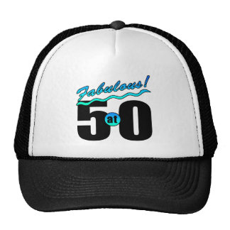 Fabulous At 50 Trucker Hats
