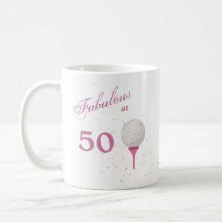 Fabulous at 50 Golf Personalized Coffee Mug