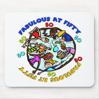 Fabulous At 50th Birthday Gifts Mouse Pad
