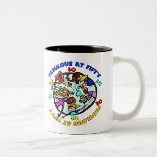 Fabulous At 50th Birthday Gifts Coffee Mugs