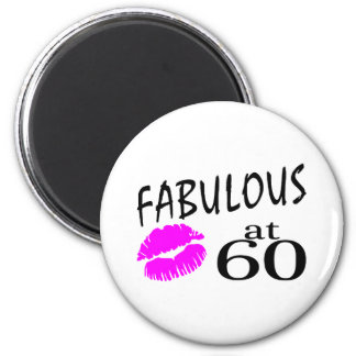 Fabulous at 60 6 cm round magnet