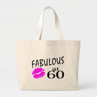 Fabulous at 60 jumbo tote bag