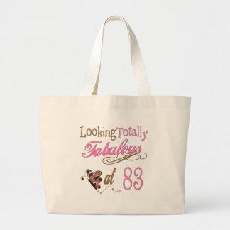 Fabulous at 83 large tote bag