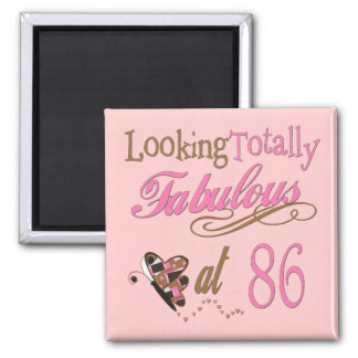 Fabulous at 86 square magnet
