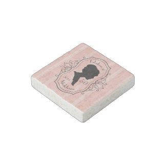 Fabulous at Fifty Cameo Lady Silhouette Dusty Pink Stone Magnet