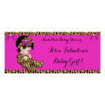 Fabulous Baby Shower Baby Cute Girl Leopard Pink 2 Poster