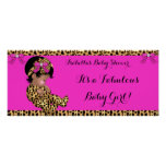 Fabulous Baby Shower Baby Cute Girl Leopard Pink Poster