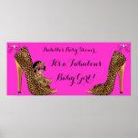Fabulous Baby Shower Baby Cute Girl Leopard Shoe Poster