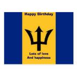 fabulous Barbados birthday Postcards