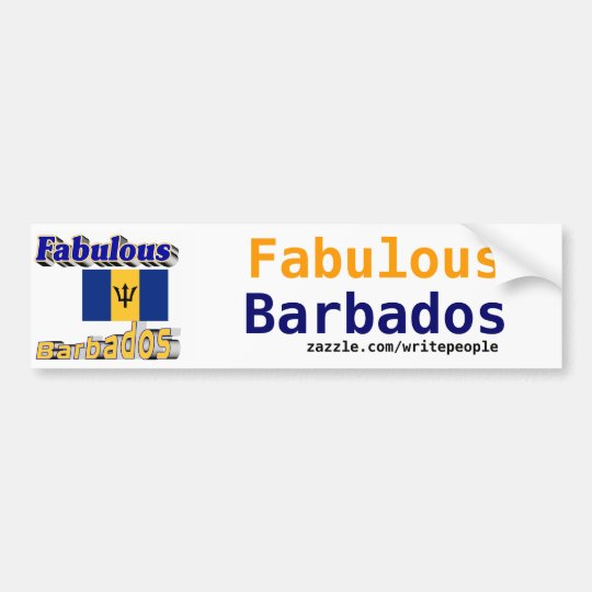 fabulous barbados bumper sticker
