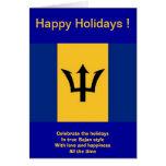 fabulous barbados holiday card
