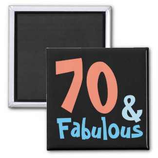 Fabulous Black Birthday Party Magnet