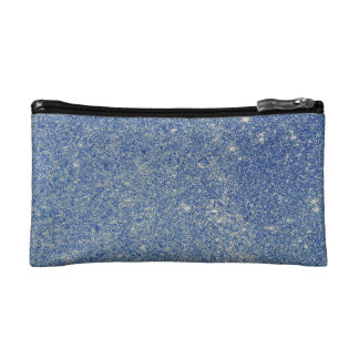 Fabulous blue glitter cosmetic bag