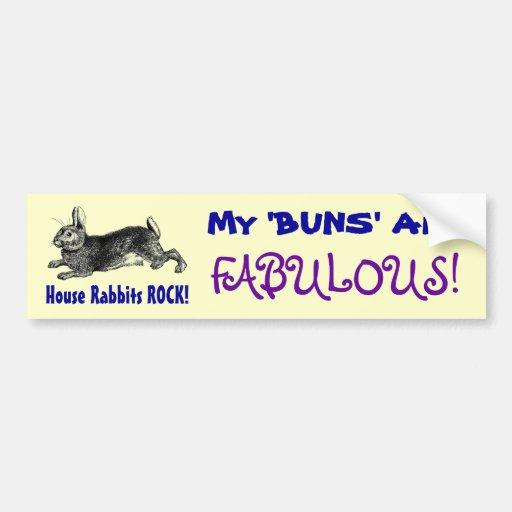 Fabulous Buns Bumper Stickers