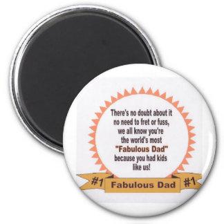 Fabulous Dad 6 Cm Round Magnet