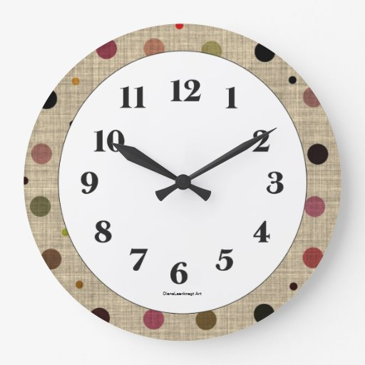 Fabulous Fabric Wall Clock