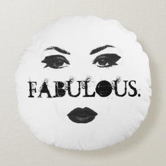 Fabulous faced round cushion