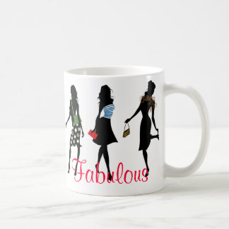 fabulous fashion women silhouettes coffee mug