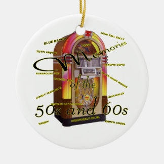 Fabulous fifties juke box christmas ornament