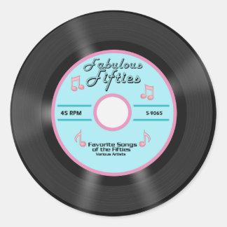 Fabulous Fifties Classic Round Sticker