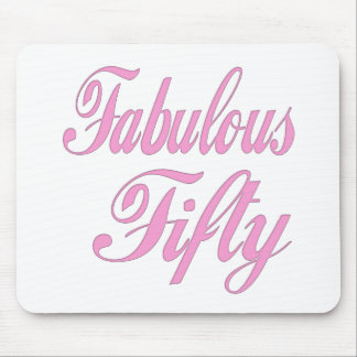 Fabulous Fifty 50th Birthday Gifts Mouse Mat