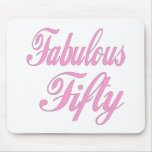 Fabulous Fifty 50th Birthday Gifts Mousemats