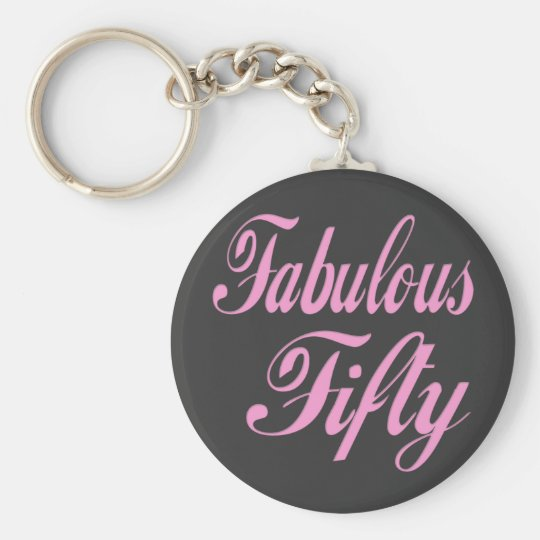 Fabulous Fifty 50th Birthday Keychain