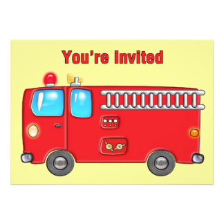 Fabulous Fire Truck Invites