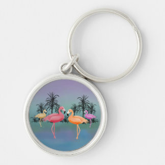 Fabulous Flamingos Key Ring
