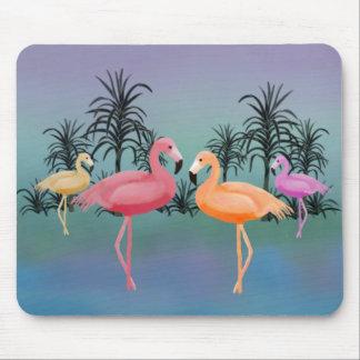 Fabulous Flamingos Mouse Pad