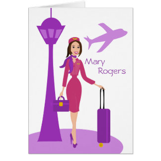 Fabulous Flight Attendant Card