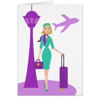 Fabulous Flight Attendant Greeting Card