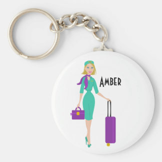Fabulous Flight Attendant Key Ring
