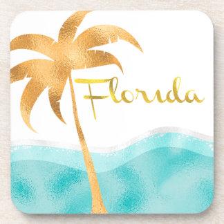 Fabulous Florida, Foil Style Print, Beverage Coasters
