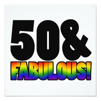 Fabulous Gay 50th Birthday Card